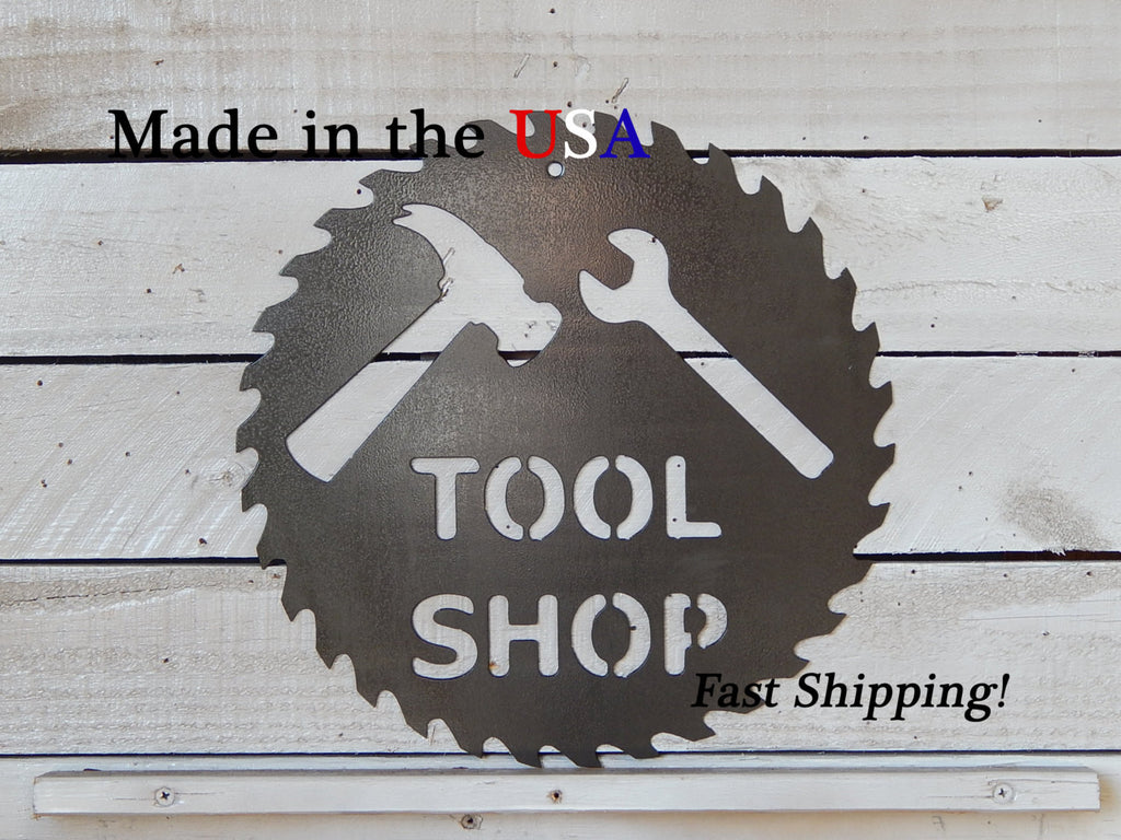 Tool Shop Sawblad Sign