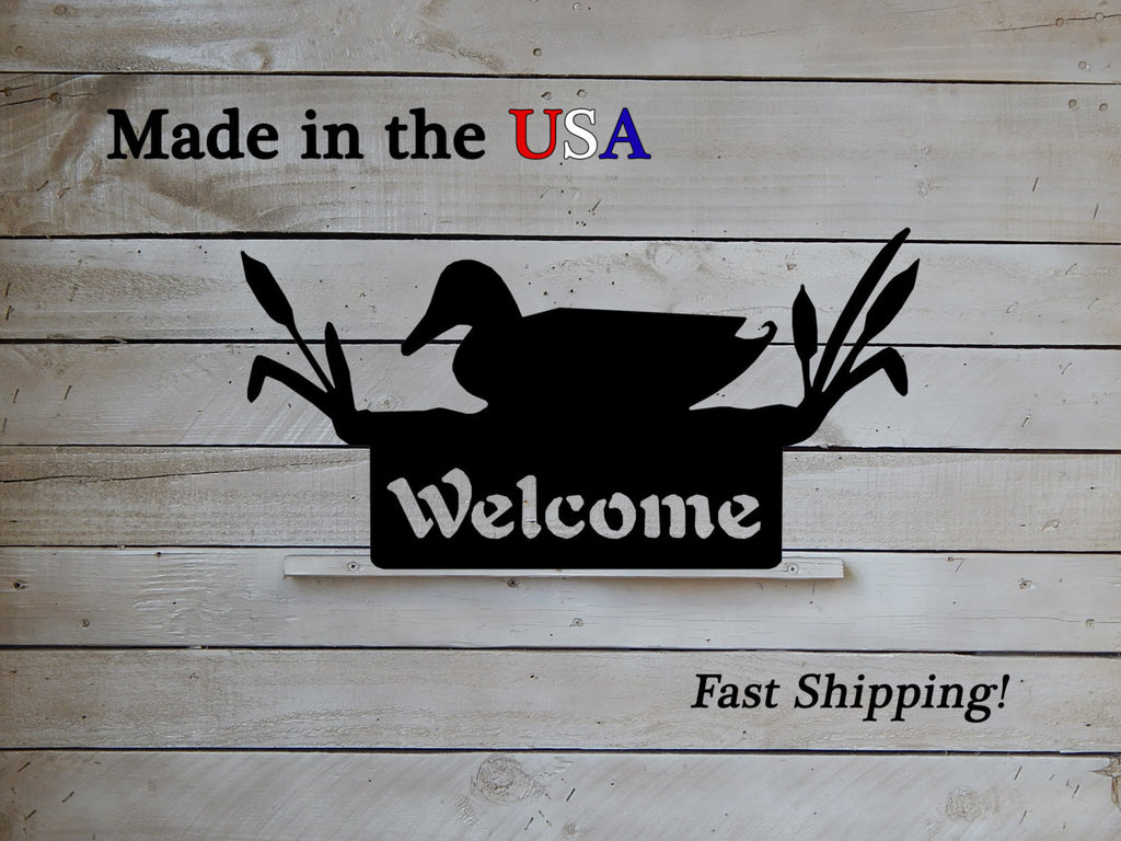 "Welcome Duck Sign, 6"" Tall"