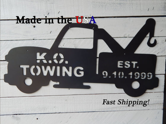 Customized Tow Truck Sign