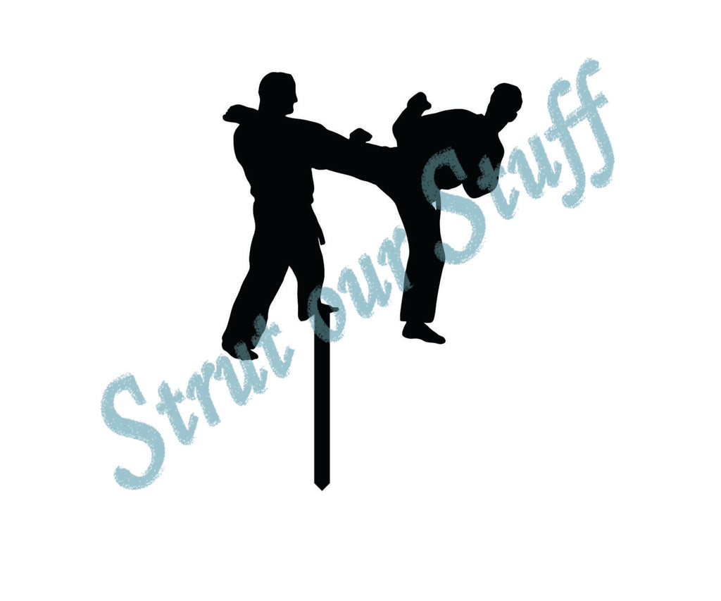 Boys Karate Match Cupcake Toppers
