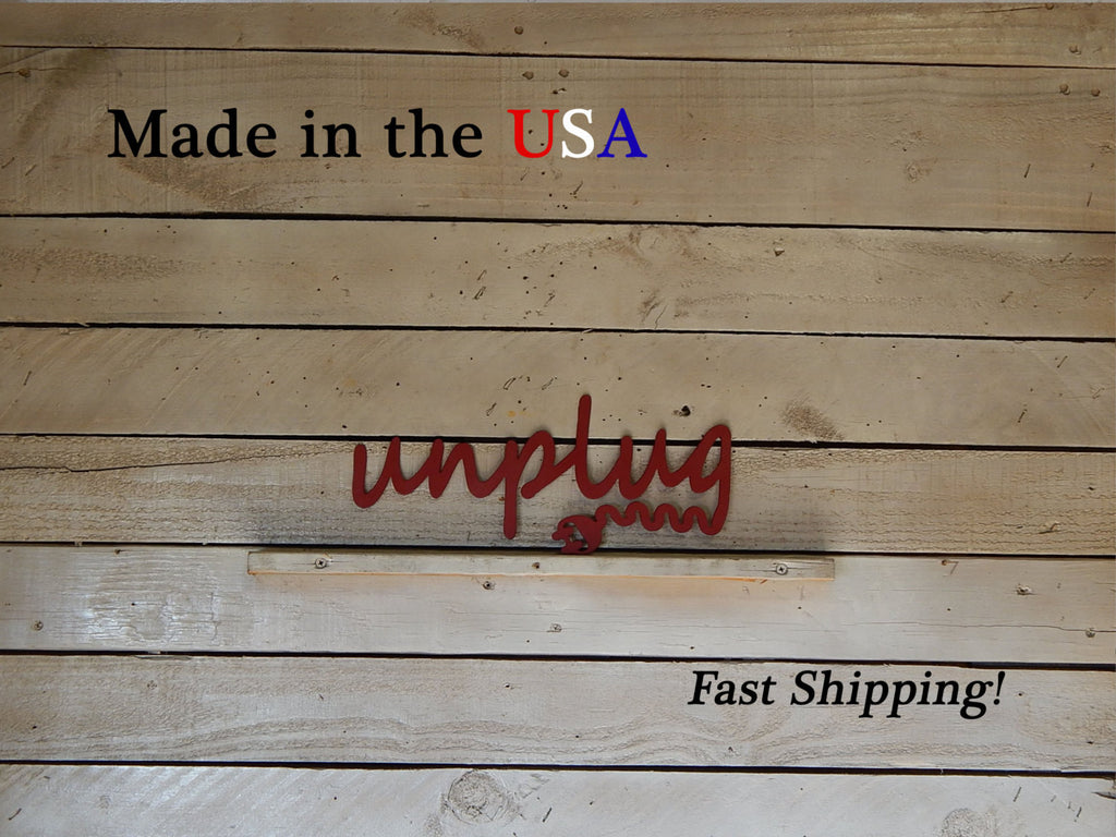 Unplug Sign