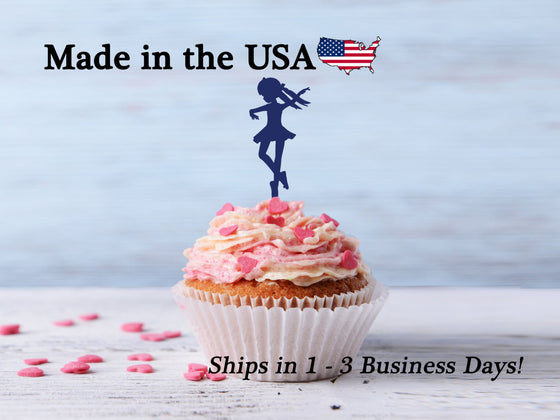 Ballerina Dancer Cupcake Toppers