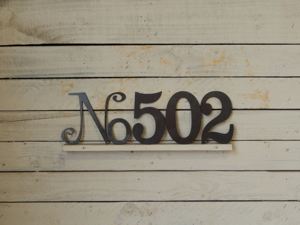 "10"" No and Number Address Plaque"