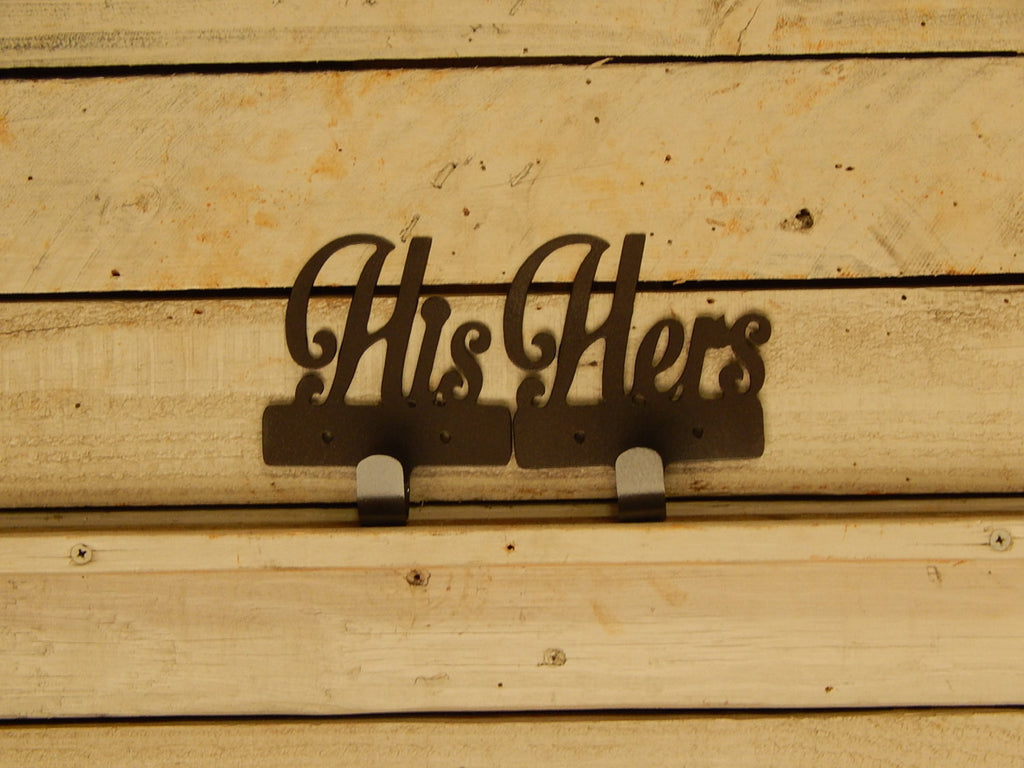 His and Hers Towel Hooks, Set of 2