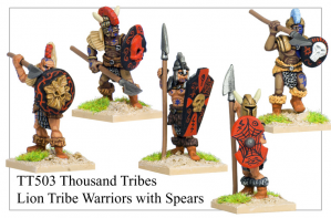 TT503 - Thousand Tribes Lion Tribe Warriors With Spears