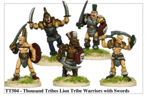 TT504 - Thousand Tribes Lion Tribe Warriors With Swords