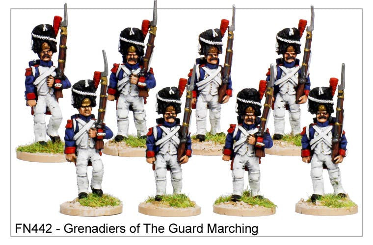 Grenadiers of the Guard in Campaign Dress Marching (FN442)