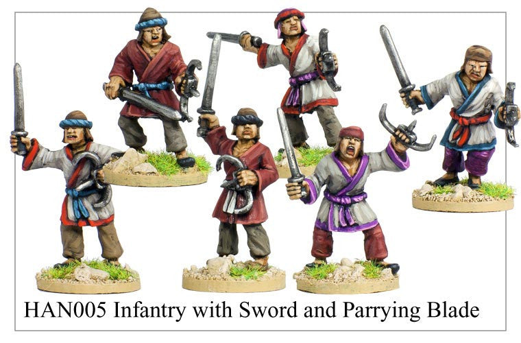 Chinese Infantry with Sword and Parrying Blade (HAN005)
