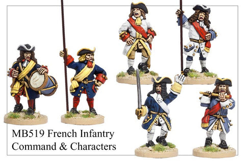French Infantry Command and Characters (MB519_