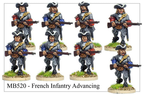 French Infantry Attacking (MB520)
