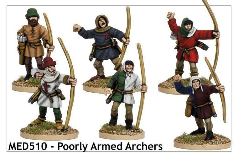 Poorly Armed Medieval Archers (MED510)