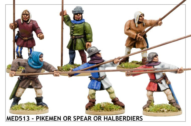 Medieval Pikemen or Spearmen or Halberdiers (MED513)