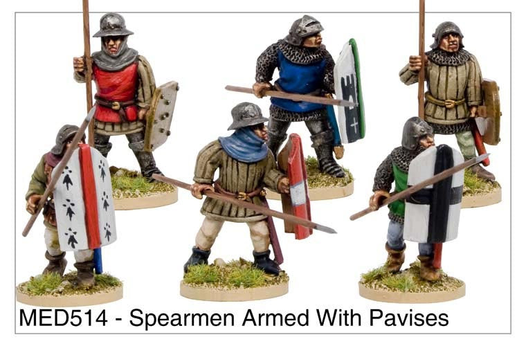 Medieval Spearmen with Pavises (MED514)