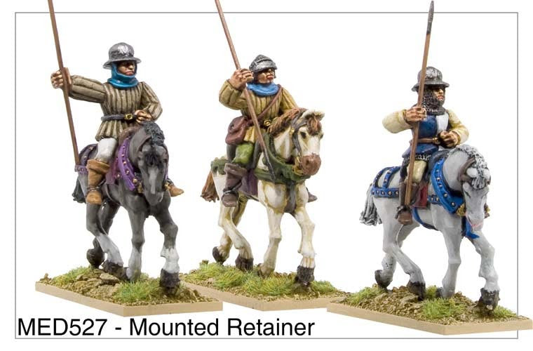 Mounted Medieval Retainers (MED527)