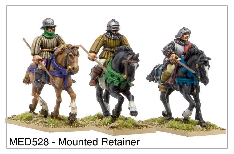 Mounted Medieval Retainers (MED528)