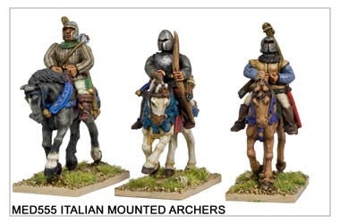 Mounted Medieval Italian Archers (MED555)
