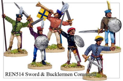 Sword & Bucklermen Command (REN514)