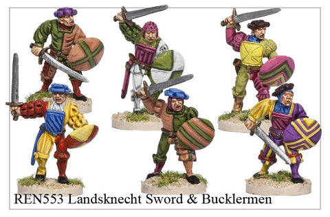 Landsknecht Sword and Bucklermen (REN553)