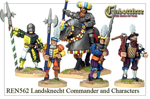 Landsknecht Commander and Characters (REN562)