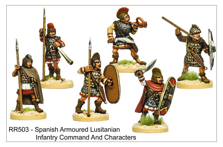 Armoured Lusitanian Command and Characters (RR503)