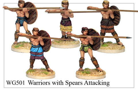 Warriors with Spears Attacking (WG501)
