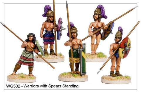 Warriors with Spears Standing (WG502)