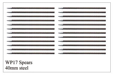 WP017 - Detailed Steel Pins 40mm Long