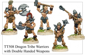 TT508 - Dragon Tribe Warriors With Double Handed Weapons