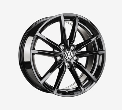 "Genuine OEM VW 18"" Pretoria Alloy Wheel Set 18 X 7.5, 5 X 112, ET51, (Gloss Black)"