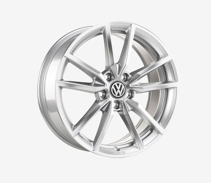 "Genuine OEM VW 18"" Pretoria Alloy Wheel Set 18 X 7.5, 5 X 112, ET51, (Silver)"