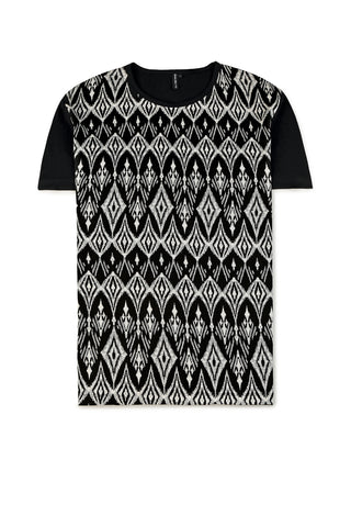 Geometric Cotton T-Shirt