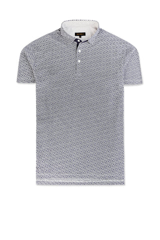 Printed Polo with Slim Collar