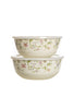 Ejiry 2 Piece Serving Bowl Set - Provence Collection (22/24 CM)