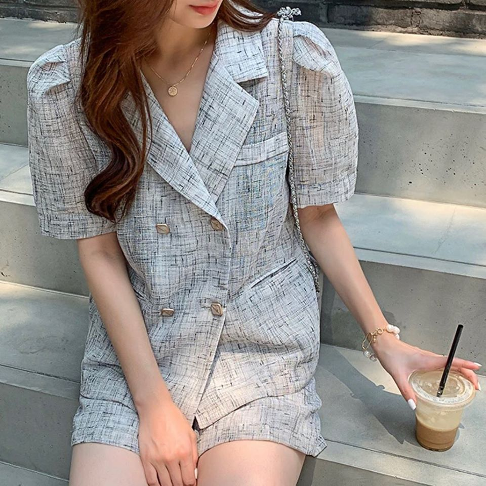 TOP / JACKET & SHORTS SET