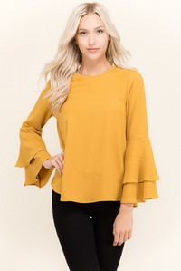 Double Layer Bell Sleeve Top