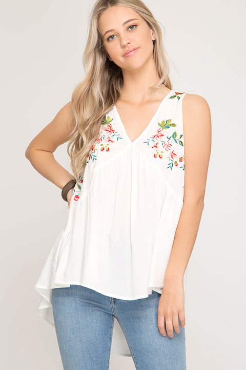 Eloise Embroidered Top