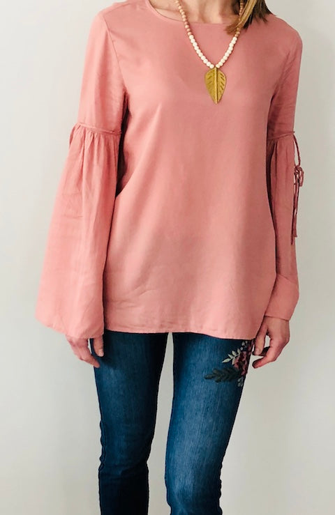Harlow Top in Dusty Pink