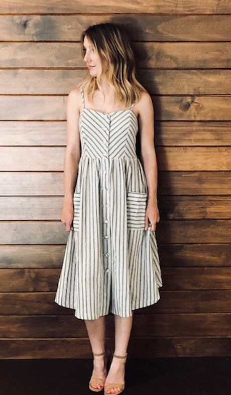 Madeline Striped Midi Dress