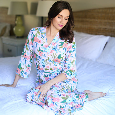 Blush Butterfly Milkmaid Robe