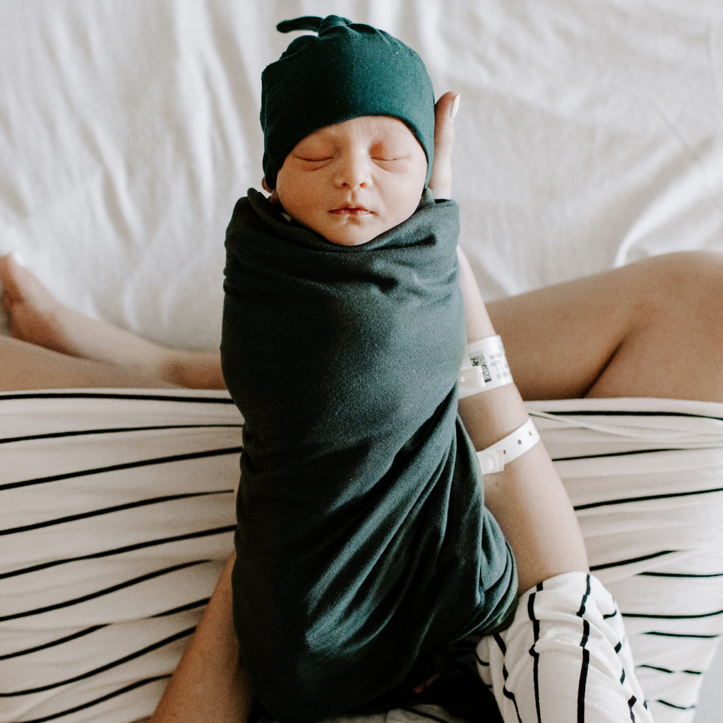 Hunter Swaddle and Hat Set