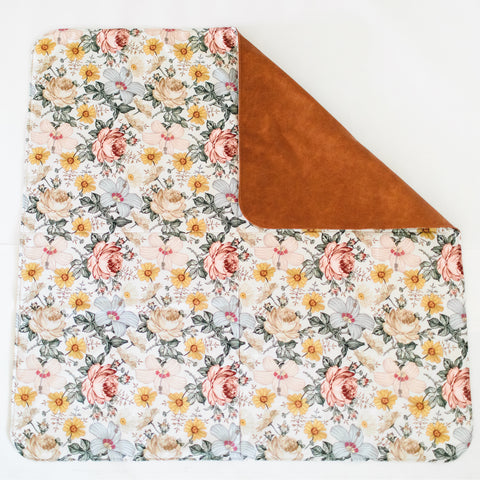 Square Cognac Reversible Playmat in Hattie