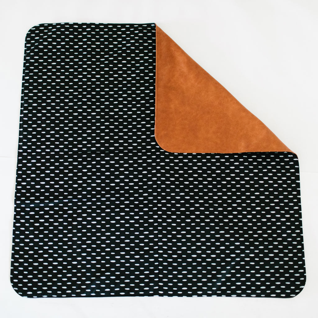 Square Cognac Reversible Playmat in Modern Lines