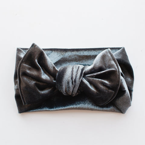 Velvet Bow - Blue Gray