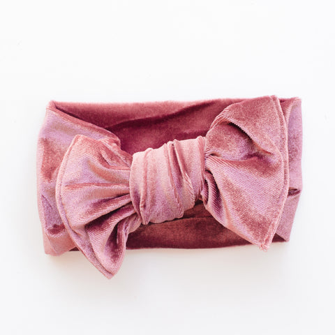 Velvet Bow - Soft Plum