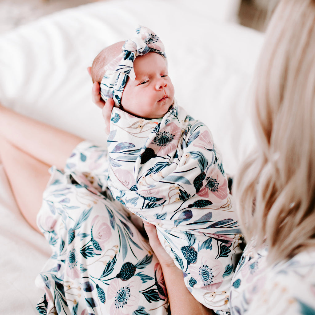 Dahlia Swaddle Blanket & Headband Set