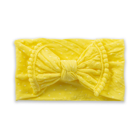 Polka Dot Bow - Lemon