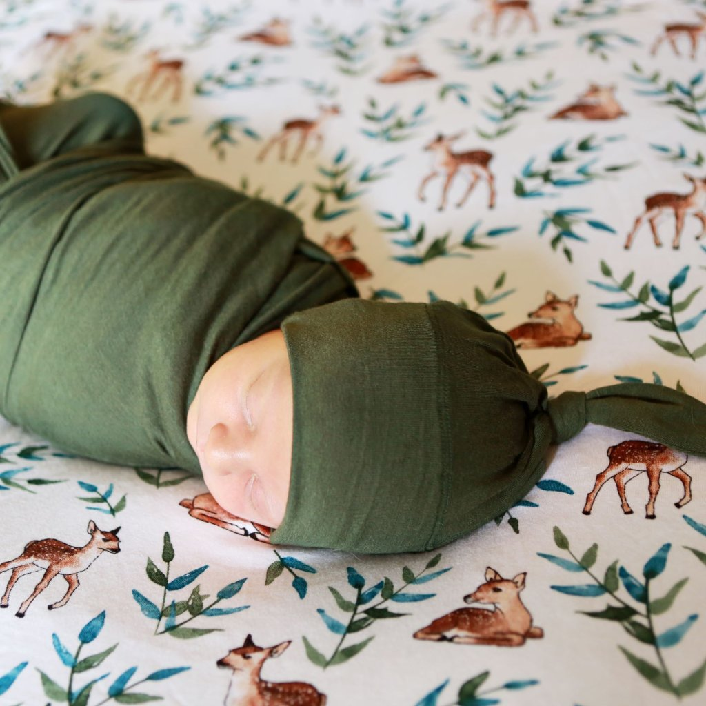 Fern Swaddle and Hat Set