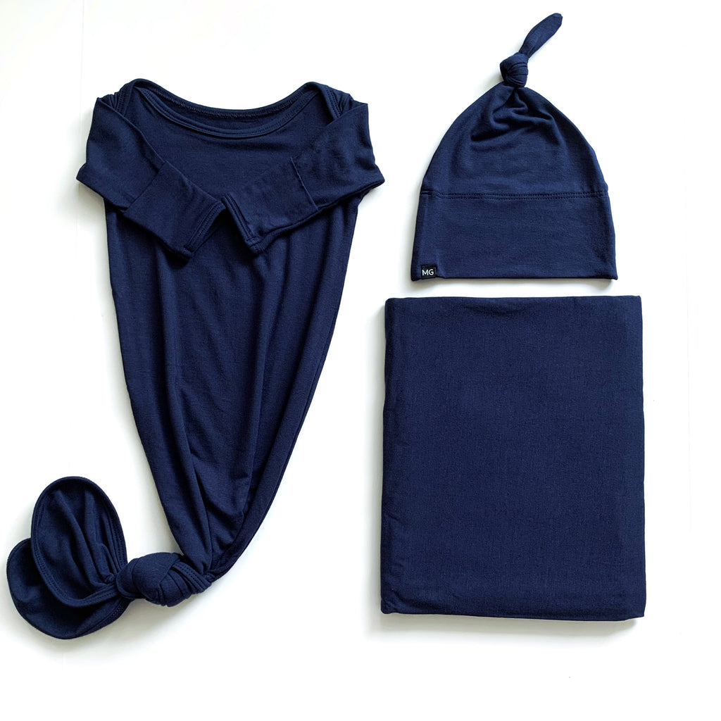 Knotted Gown Bundle in Navy