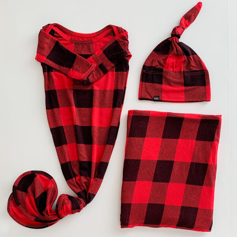 Knotted Gown Bundle in Lumberjack