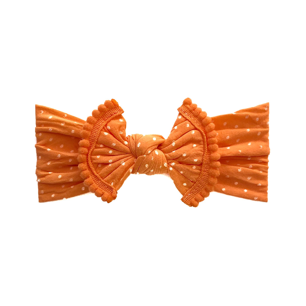 Polka Dot Bow - Orangesicle